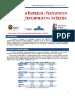 Boletim Do Emprego de Pernambuco (Mês de Fevereiro de 2018)