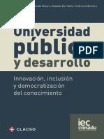 Universidad, inclusión y desarrollo. Unzué