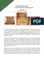 El Amitayur-dhyana-sutra, Un Tratado Sobre La Meditación Comentado Por Jung