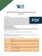 Linee Guida Di Profilassi Antibiotica in Chirurgia Generale