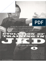 Jeet kune do evolution of training