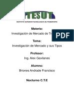 Instituto Superior Tecnologico de Transporte.docx Investigacion de Mercado
