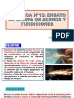 PRÁCTICA N° 13 ENSAYO DE CHISPAS