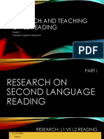 Research and Teaching on L2 Reading Week 3