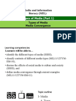 3.MIL 4. Types of Media (Part 1)- Types of Media and Media Convergence