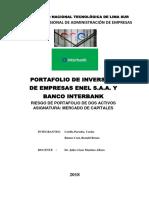 Carátula y Contenido Riesgo de Portafolio