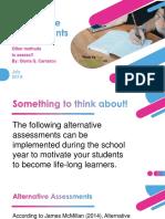 alternative assessments pp