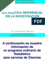Estadistica inferencial en la investigacion