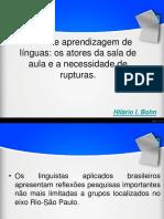 Ensino e Aprendizagem de Línguas