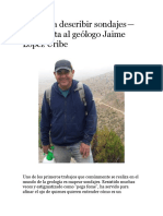 Describir Sondajes de Perforacion Chile May 2019