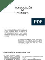 Biodegradación y Bioplásticos