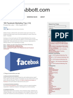 100 Facebook Marketing Tips