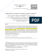 Asquith (2005) Information Content of Equity Analyst Reports
