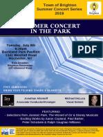 Brighton Symphony Summer Flyer 2019