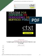 """La Iglesia Ganó La Guerra Civil, Más Que El Ejército y Que La Falange"" _ Ctxt.es"