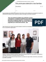 Laura Fernández Piña promueve atención a las familias - Cancunissimo