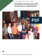 Reforzará Laura Fernández acciones a favor del sector artesanal por una mayor competitividad