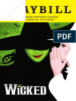 Hollywood Pantages - Wicked playbill