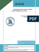 Registration of Hyp of Vehicles Under CA 2013 Vinod Kothari