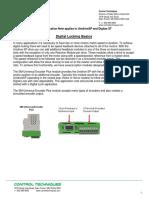 AN0384 Unidrive SP and Digitax ST Digital Locking Basics