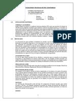Especificaciones Técnicas Instalaciones Sanitarias