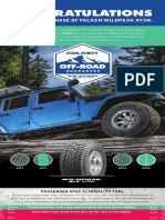 Falken Wildpeak Off Road Guarantee
