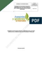 modelo de informe de contingencia