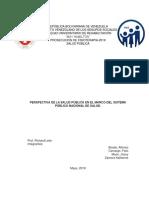Perspectiva de LaSalud Pública en El Marco Del Sistema Público Nacional de Salud.