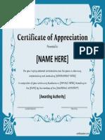Appreciation Certificate 8