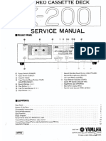 Yamaha K-200 - Service Manual