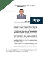 El Derecho a La Prueba Segun Las Sentencias Del Tribunal Constitucional -TC. Por. Dr. Janner A. Lopez  Avendaño