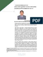 El Delito de Parricidio - Un Análisis Jurisprudencial a Los Diversos Fallos de La Corte Suprema. Por . Dr. Janner Alan Lopez Avendaño.