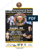 7º Arnold Classic South America - Karate - Convite