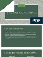 Estudo de impactos ambientais EIA