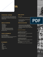 Black Simple College Resume Cintia
