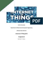 Iot Assignment 2018