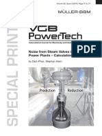Reducing valve noise