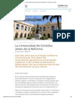 Salcedo, Elio - La Universidad de Córdoba Antes de La Reforma – Revista de La UNSJ