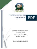 LA VÍCTIMA FRENTE AL PROCESO PENAL GUATEMALTECO