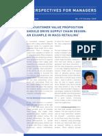 Customer Value to Supply Chain Design