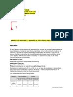 MANEJO DE MATERIAL Y NORMAS DE SEGURIDAD EN EL LABORATORIO
