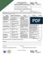 Rubrics Onsite Performance Evaluation