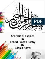Diversity of themes in Robert Frost's poetry