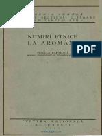 Numiri etnice la Aromâni