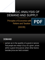 The Basic Analysis of Demand and Supply