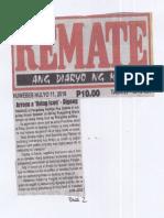 Remate, July 11, 2019, Arroyo a living icon-Digong.pdf