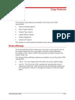 Docucolor 2006 Copy Features