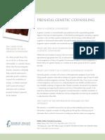 Prenatal Genetic Counseling