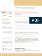 First Trimester Screening