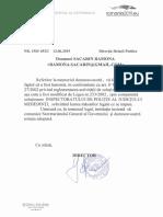 Răspunsul Secretariatului General al Guvernului pentru soții Săcărin